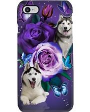 Dog - Husky Purple Rose Phone Case i-phone-7-case