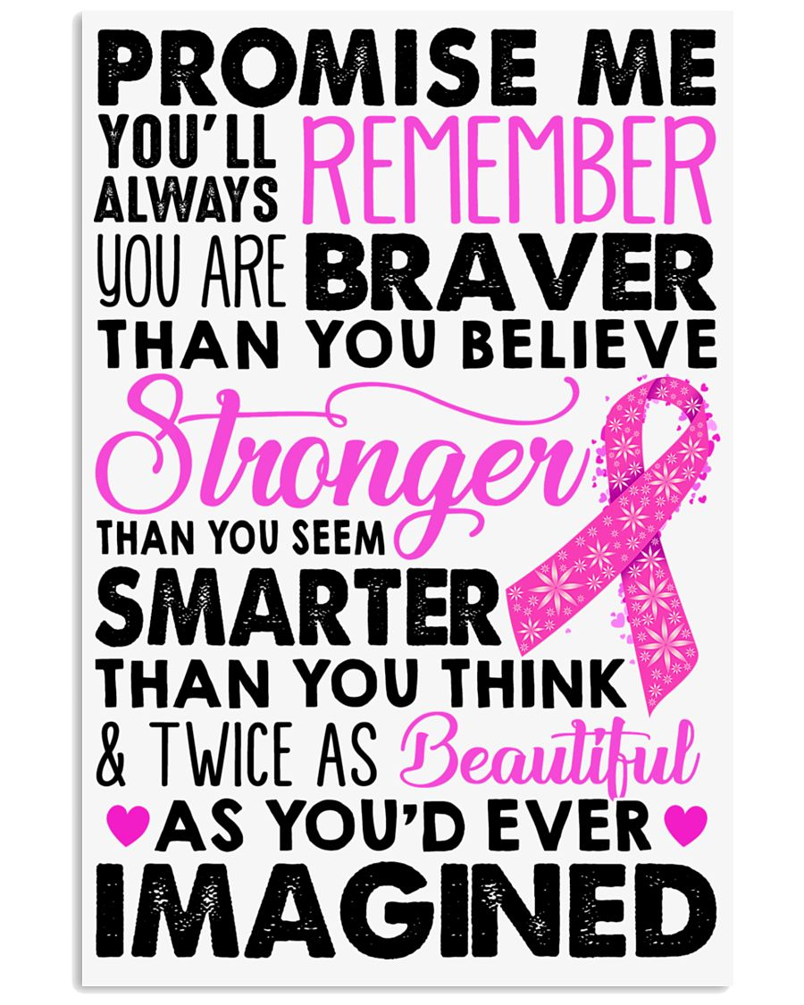 Promise me - Breast caner Awareness Month 11x17 Poster