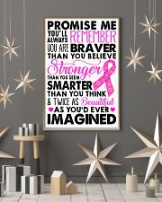 Promise me - Breast caner Awareness Month 11x17 Poster lifestyle-holiday-poster-1