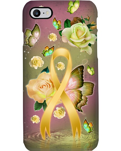 Childhood cancer Awareness - Rose Butterfly Ribbon