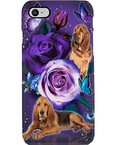 Dog - Bloodhound Purple Rose