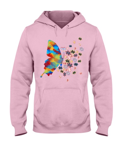 Butterfly Puzzles Flower - Autism Awareness