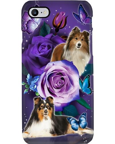 Dog - Shetland Sheepdog Purple Rose