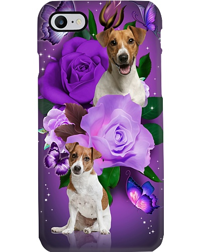 Dog - Jack Russell Terrier Purple Rose