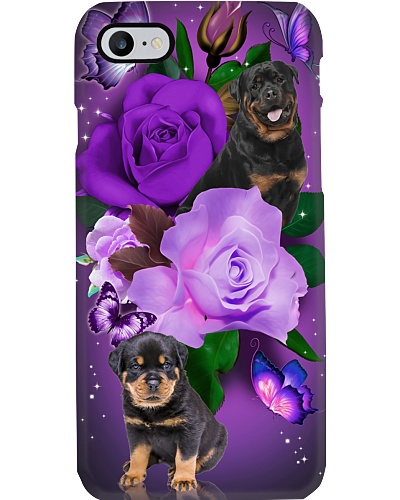 Dog - Rottweiler Purple Rose