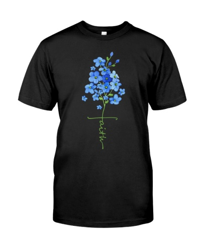 Faith Forget Me Not Flower - Alzheimer's Awareness