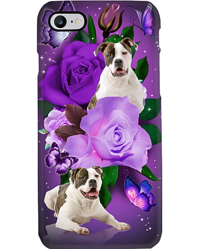 Dog - American Bulldog Purple Rose