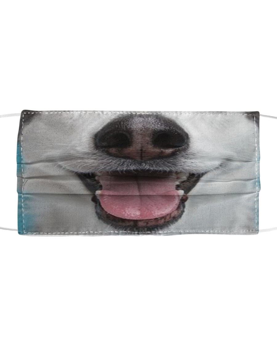 Cute Smiling Husky  Cloth face mask