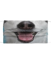 Cute Smiling Husky  Cloth face mask front