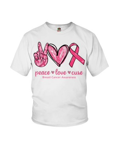 Peace Love Cure - Breast cancer Awareness