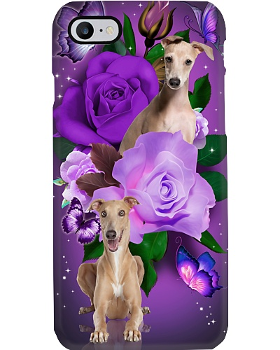 Dog - Greyhound Purple Rose