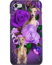 Dog - Greyhound Purple Rose Phone Case i-phone-7-case
