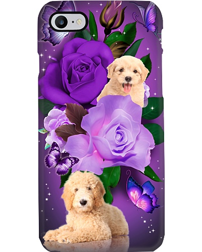 Dog - Goldendoodle Purple Rose