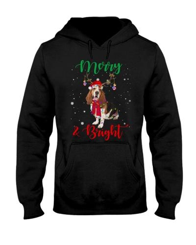 Merry and Bright Basset Hound Dog