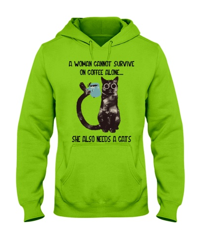 Survive on coffee and cats