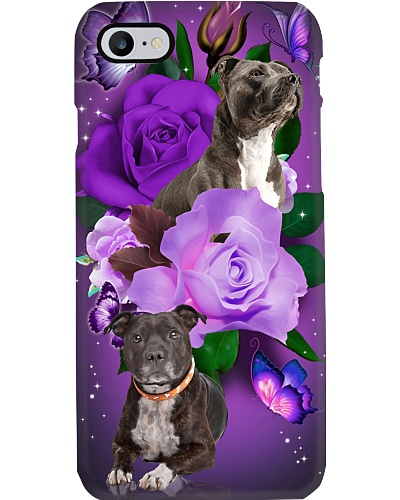 Dog - Staffordshire Bull Terrier Purple Rose