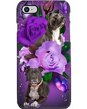 Dog - Staffordshire Bull Terrier Purple Rose Phone Case i-phone-7-case