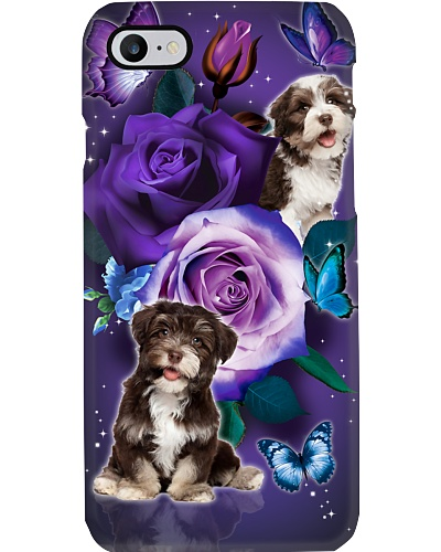 Dog - Havanese Purple Rose