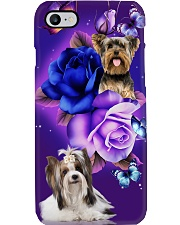 Dog - Yorkshire Terrier Purple Rose Phone Case i-phone-7-case