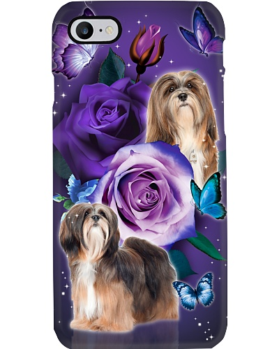 Dog - Lhasa Apso Purple Rose
