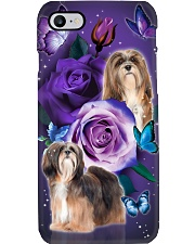 Dog - Lhasa Apso Purple Rose Phone Case i-phone-7-case