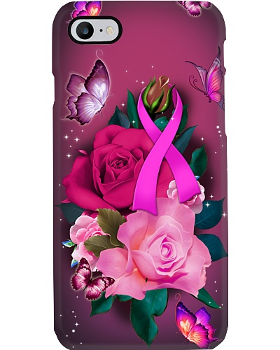 Breast cancer Awareness - Pink ribbon and Rose
