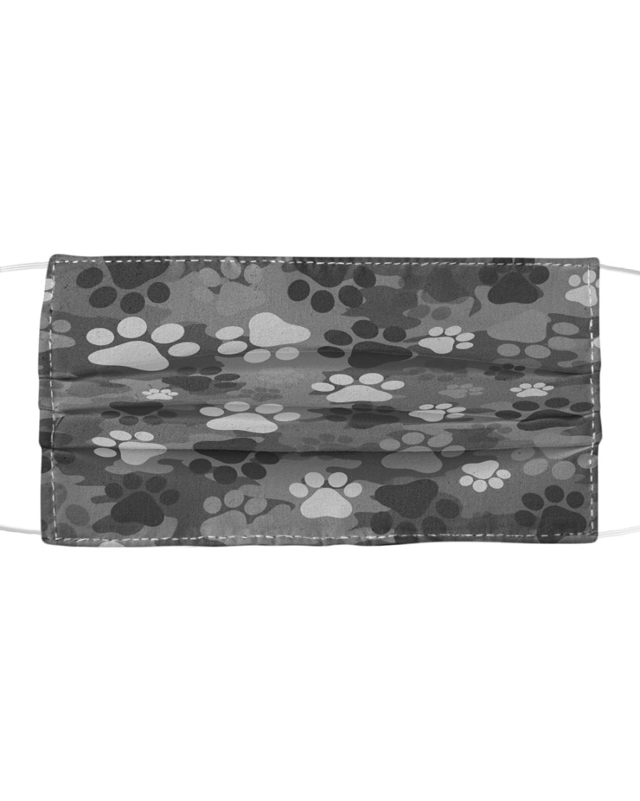 Camouflage feet Cloth face mask