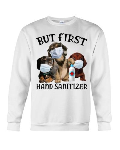 But first hand sanitizer - Dachshund Dog