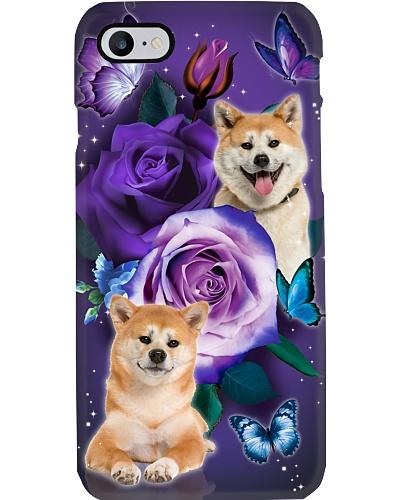Dog - Shiba Inu Purple Rose