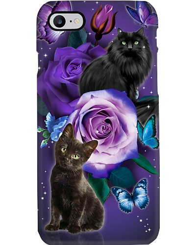 Cat - Purple Rose
