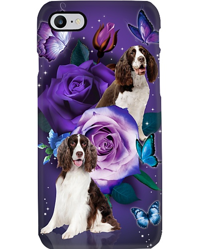 Dog - English Springer Spaniel Purple Rose