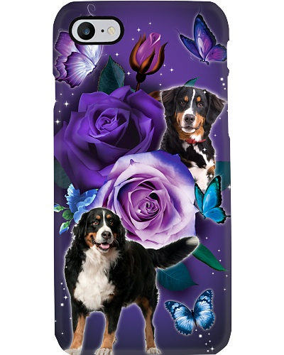 Dog - Bernese Mountain Purple Rose