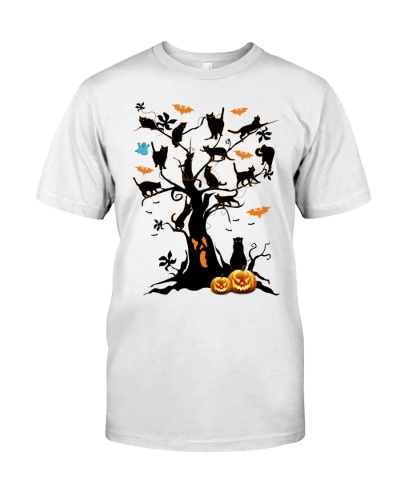 Cats on the tree - Halloween