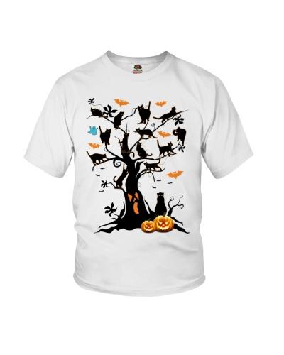 Cats on the tree - Halloween