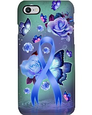 Colon cancer Awareness - Ribbon and Rose Phone Case i-phone-7-case