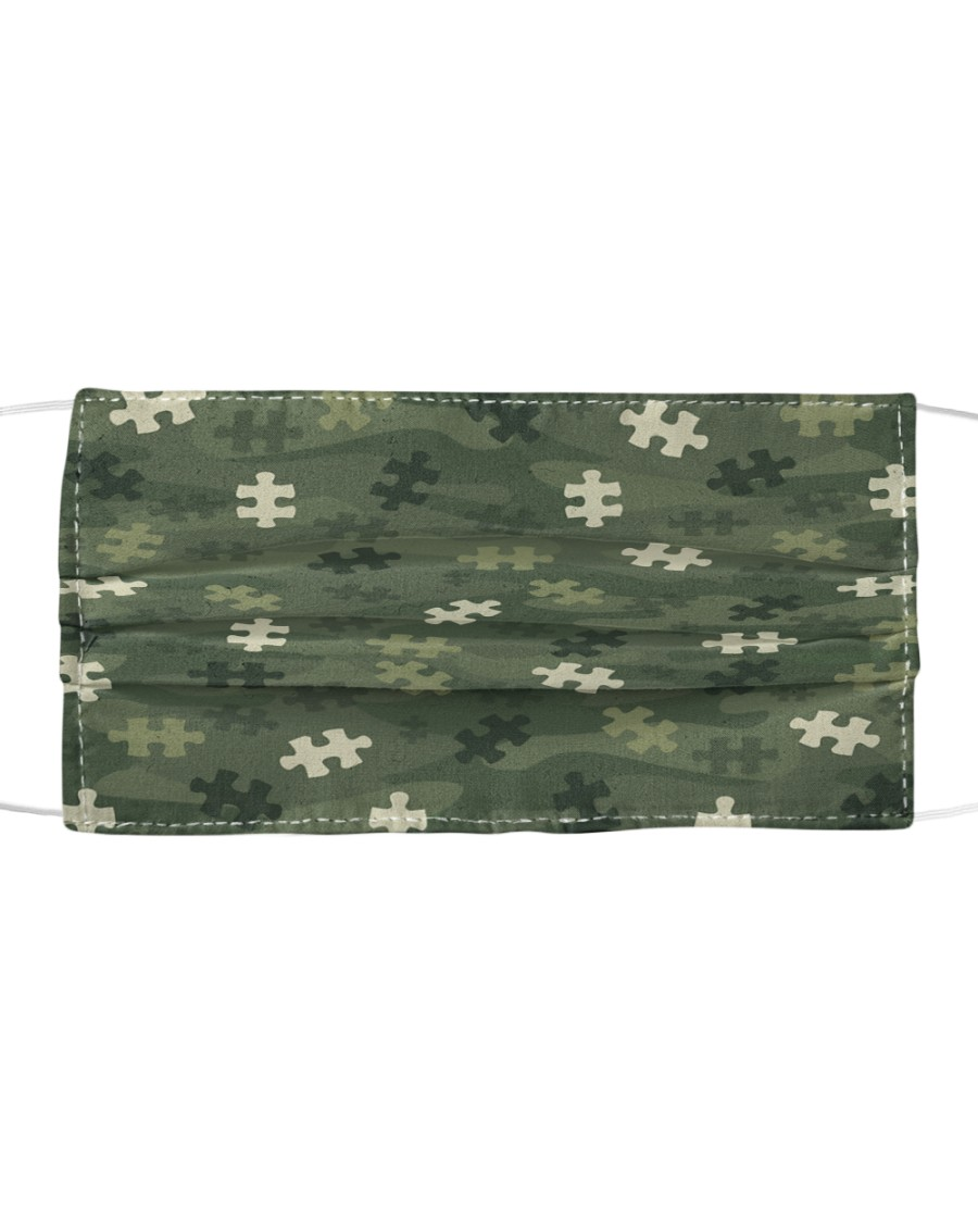 Autism Awareness - Camouflage Cloth face mask