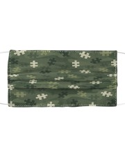 Autism Awareness - Camouflage Cloth face mask front