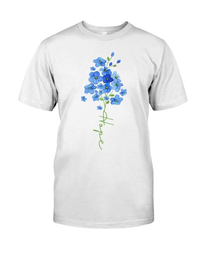 Hope Forget Me Not Flower - Alzheimer's Awareness
