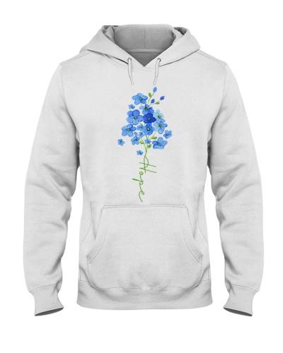 Hope Forget Me Not Flower - Alzheimer's Awareness