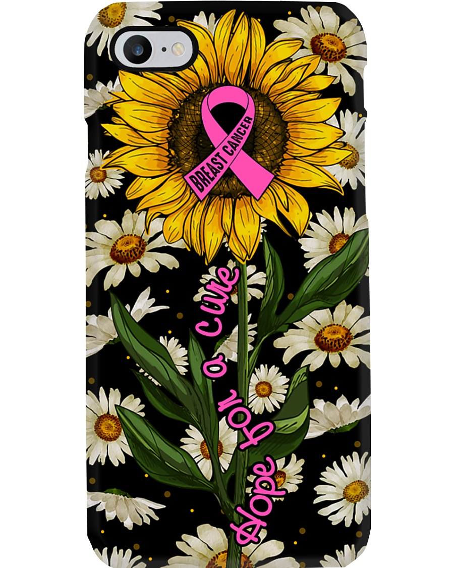 Breast cancer Awareness - Hope for a cure Phone Case