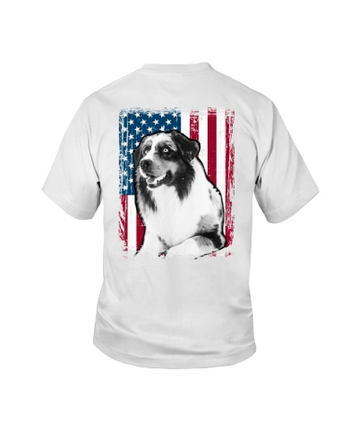 Australian Shepherd USA Flag