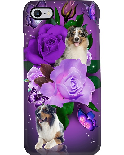 Dog - Australian Shepherd Purple Rose