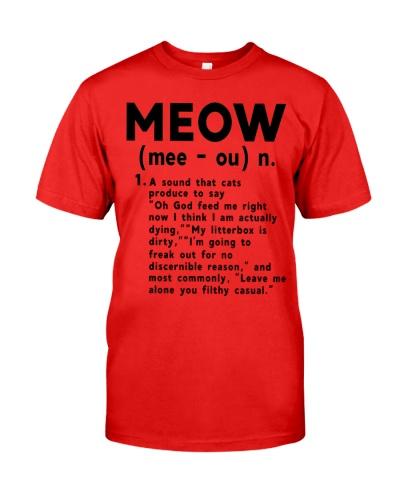 Meow noun