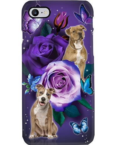 Dog - American Staffordshire Terrier Purple Rose