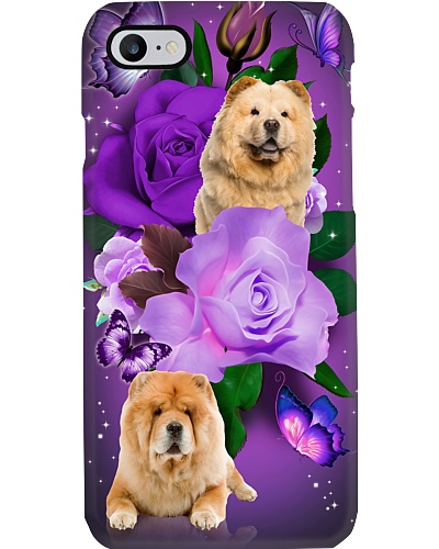 Dog - Chow Chow Purple Rose