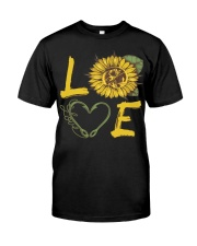 Love  Fishing with sunFlower Classic T-Shirt thumbnail