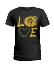 Love  Fishing with sunFlower Ladies T-Shirt thumbnail