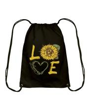 Love  Fishing with sunFlower Drawstring Bag thumbnail