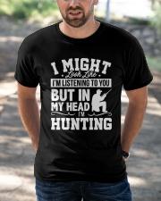 MY HEAD I'm HUNTING Classic T-Shirt apparel-classic-tshirt-lifestyle-front-50