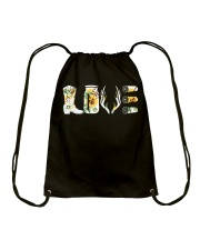 Love  Hunting with sunFlower Drawstring Bag thumbnail